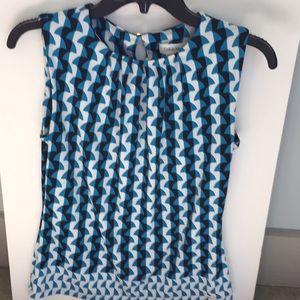 Calvin Klein sleeveless patterned blouse